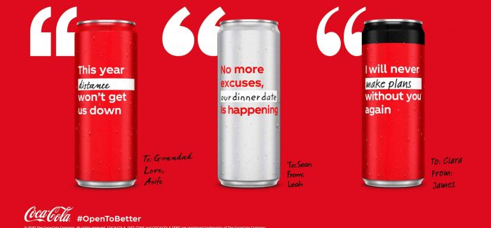 Coca-Cola Ireland Replaces Logo With Inspiring Messages
